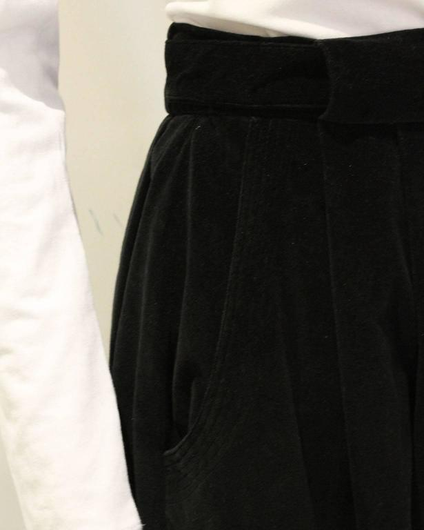 Vintage 1970s Christian Dior Black Velvet Skirt 5