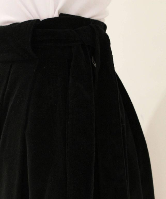 Vintage 1970s Christian Dior Black Velvet Skirt 7