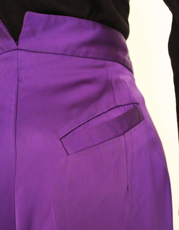 Vivienne Westwood Satin Trousers For Sale 1