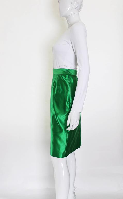 Yves Saint Laurent Variation Cotton and Silk mix Skirt For Sale 2