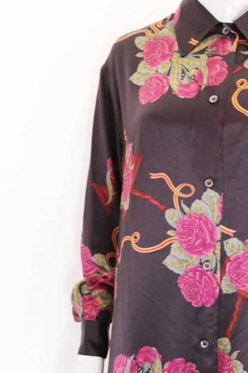 Silk Overshirt by Salvatore Ferragamo For Sale 1