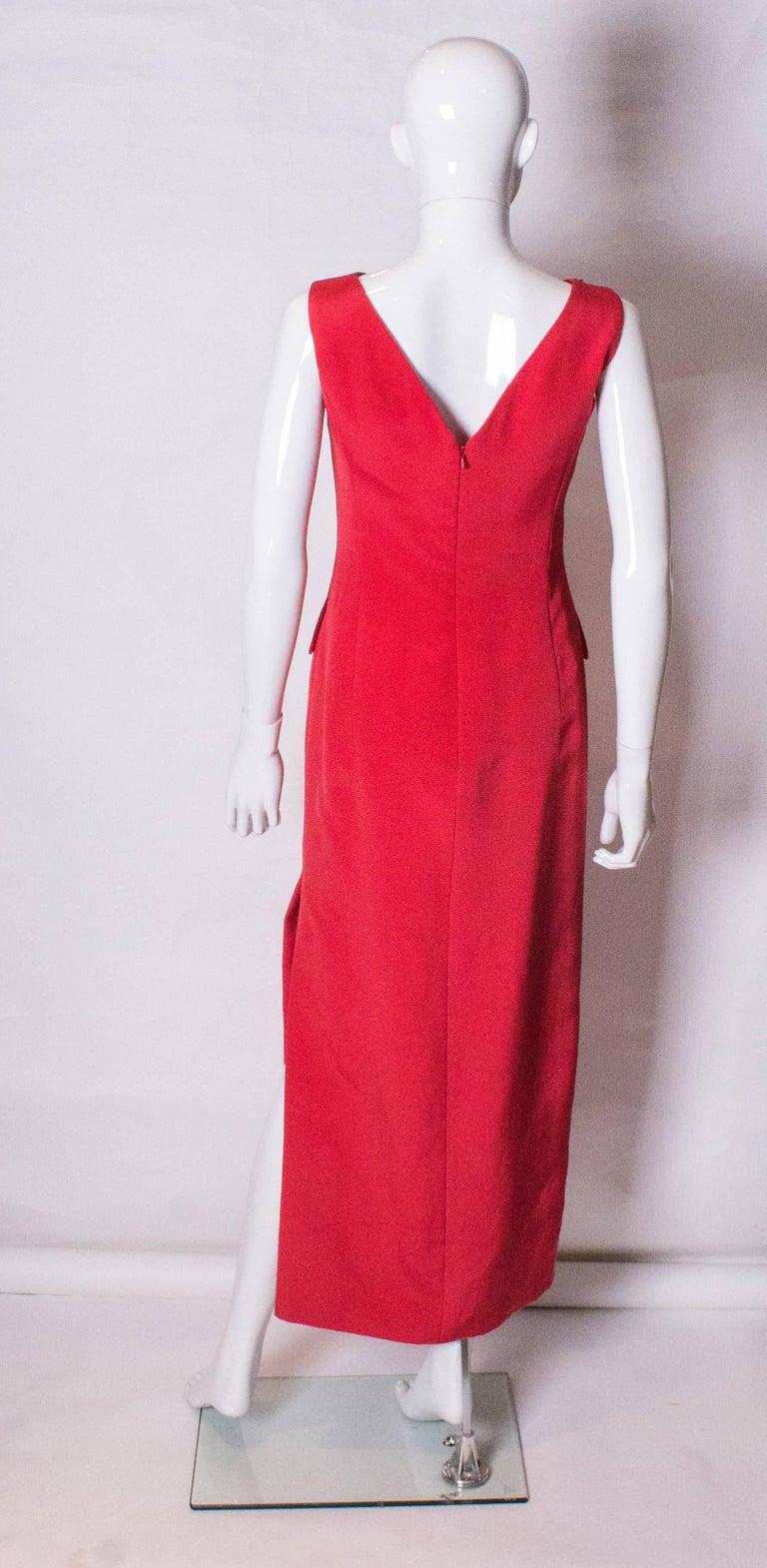 Women's Vintage Red Tomasz Starzewski Evening Gown For Sale