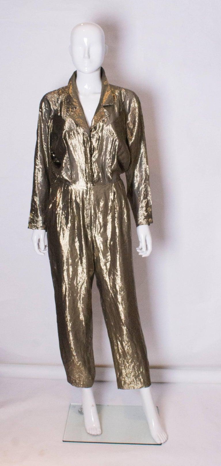 Vintage Gold Fendi Jumpsuit 2