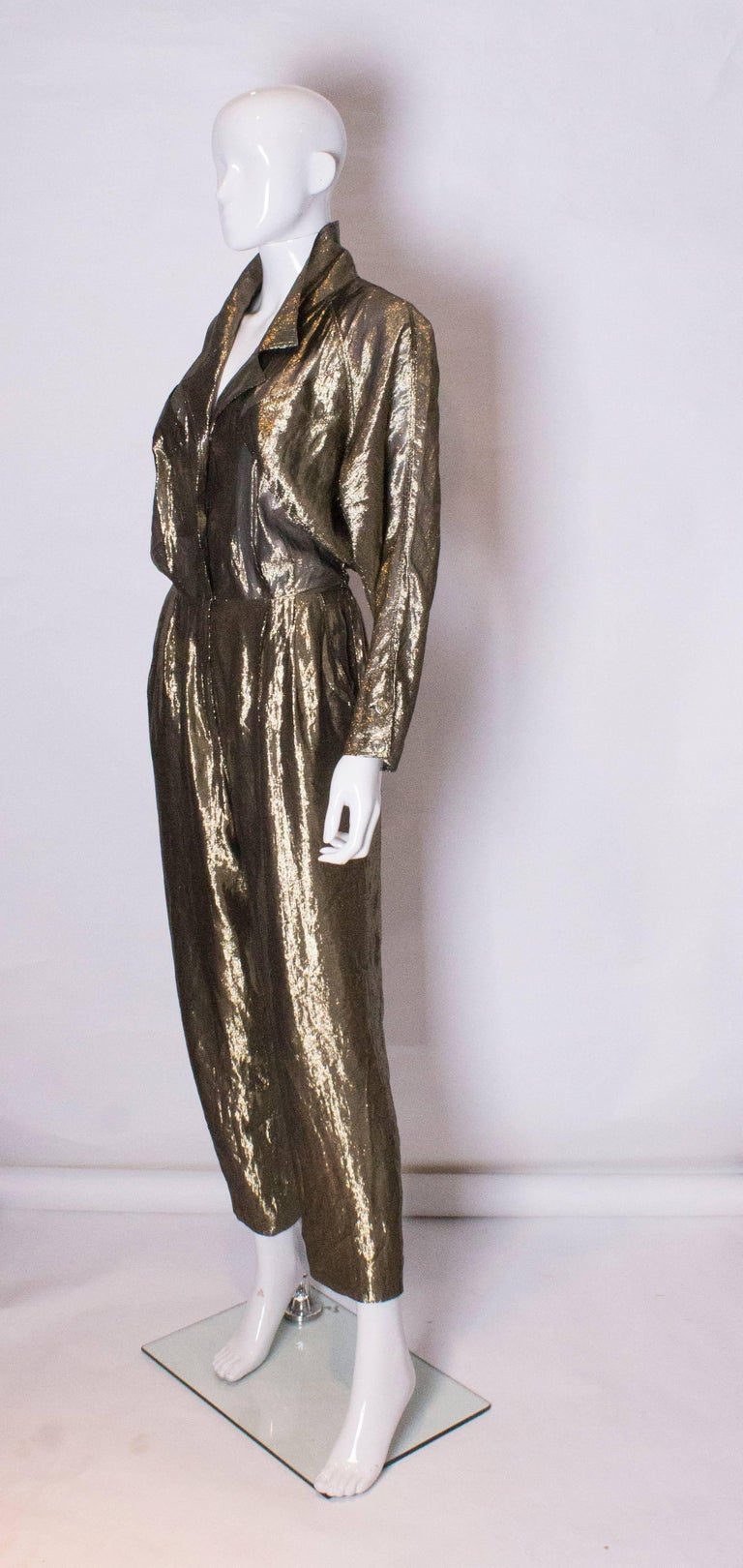 Vintage Gold Fendi Jumpsuit 3