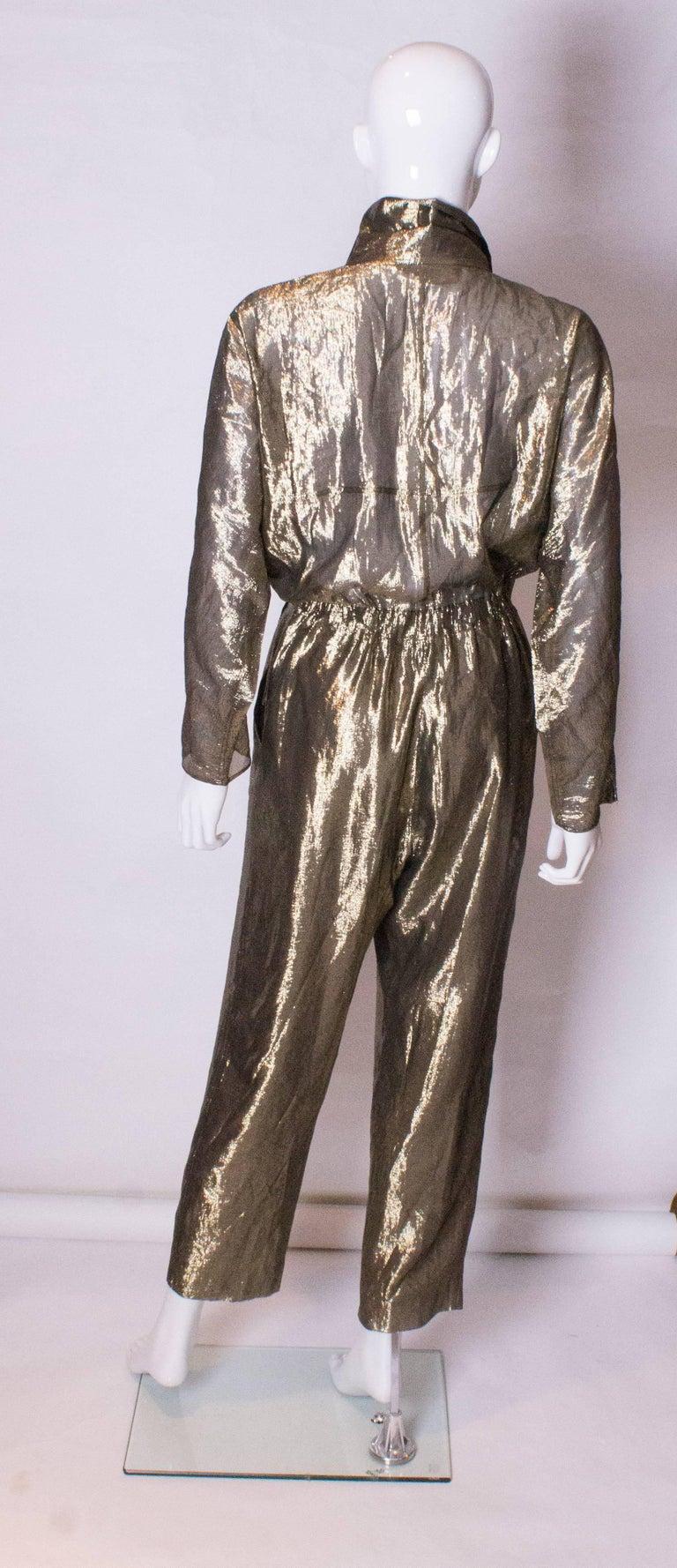 Vintage Gold Fendi Jumpsuit 5