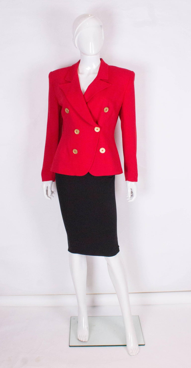 Christian Dior Red Jacket 2