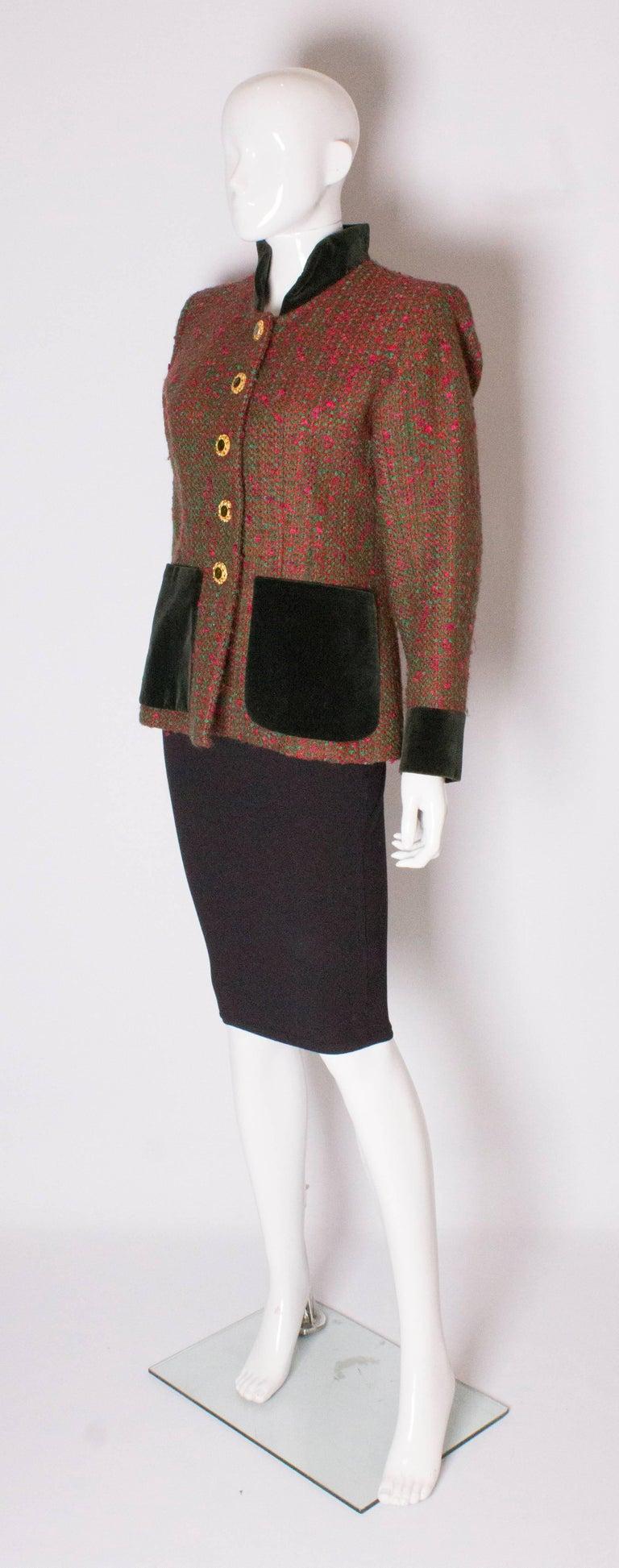 Black Yves Saint Laurent  Rive Gauche Vintage Jacket For Sale