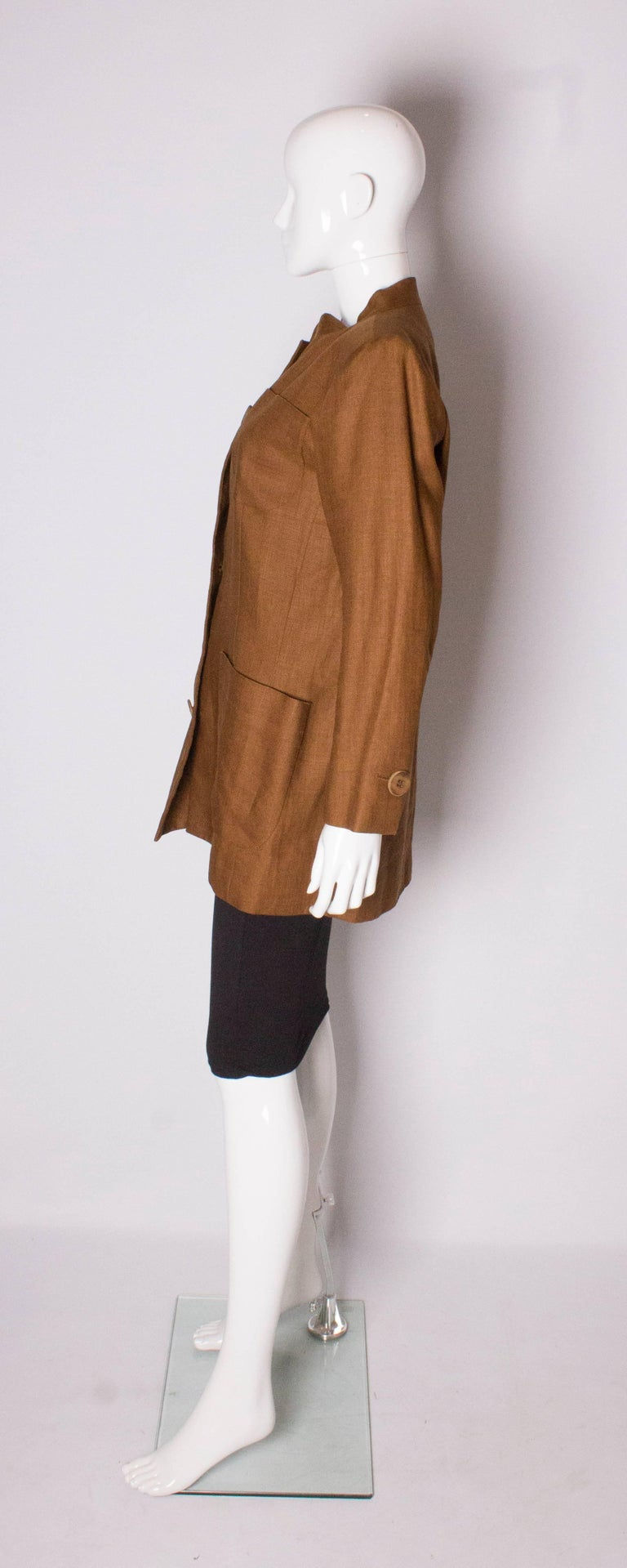 Vintage Yves Saint Laurent Rive Gauche Linen Jacket In Good Condition For Sale In London, GB