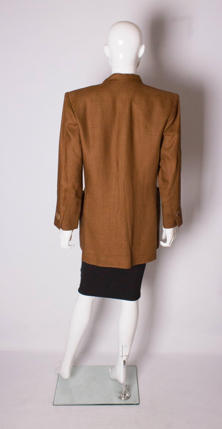 Women's Vintage Yves Saint Laurent Rive Gauche Linen Jacket For Sale