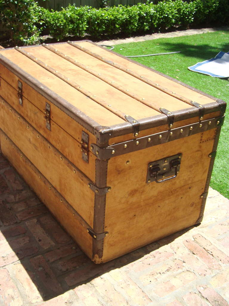 Steamer Trunk Coffee Tables Antique Steamer Trunk Coffee Table Side Table Circa 1900 At