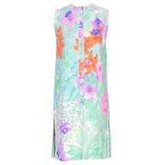 LEONARD Silk 60's Summer Dress