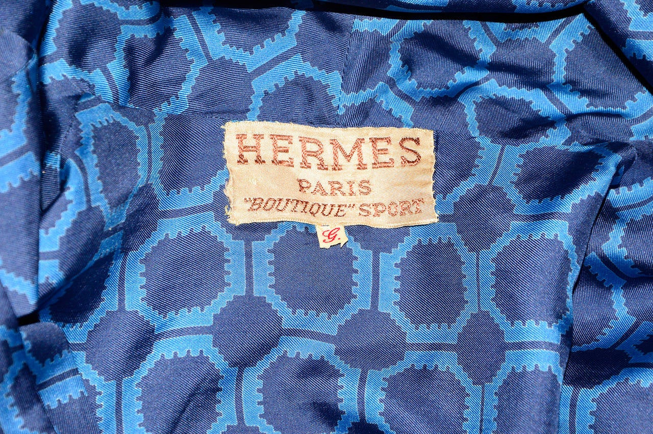 Vintage Hermés Silk Robe / Coat 4