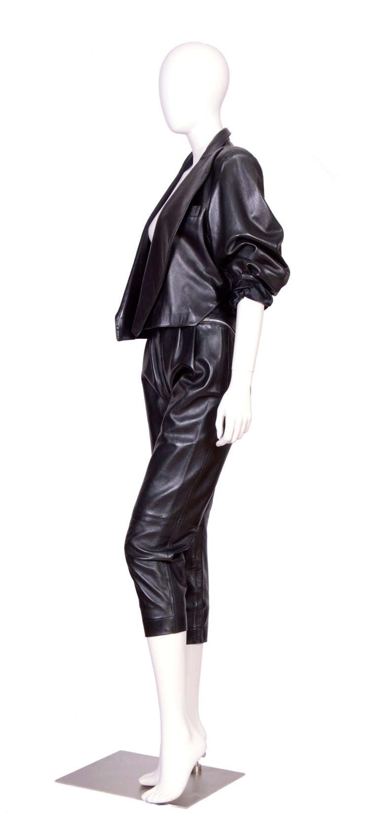 Vintage 80's Alaia Leather set 3