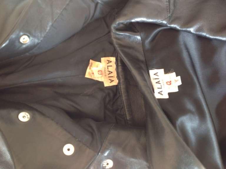 Vintage 80's Alaia Leather set 5