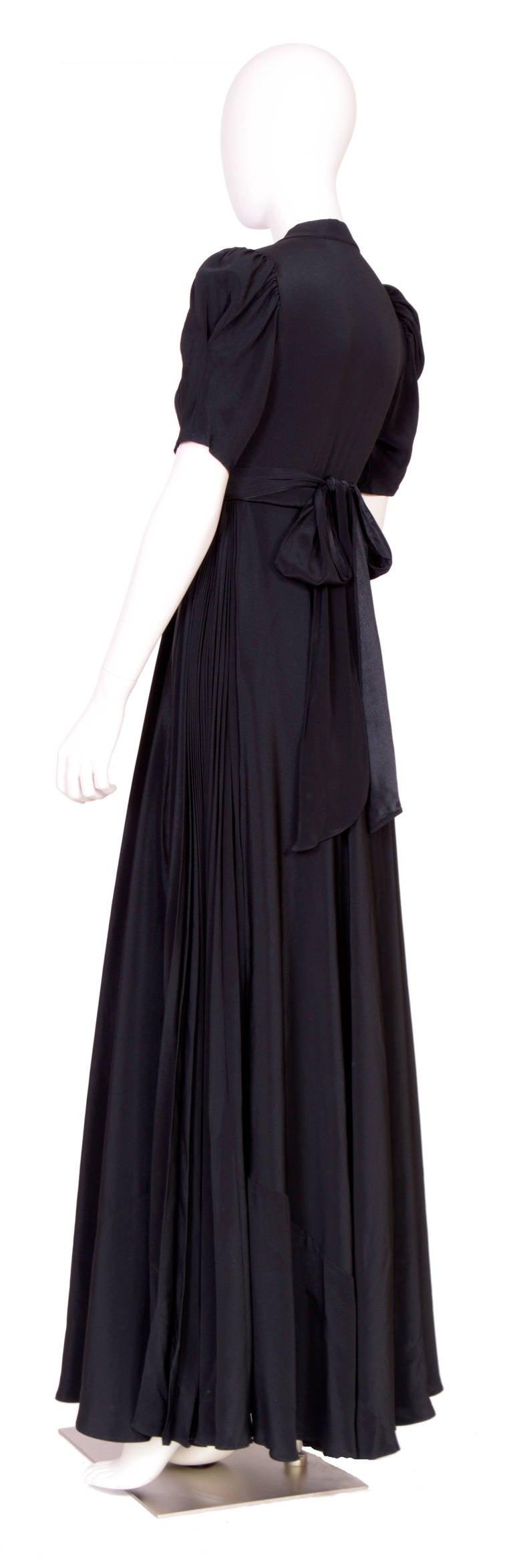 Vintage OSSIE CLARK for QUORUM Black Wrap Dress 3