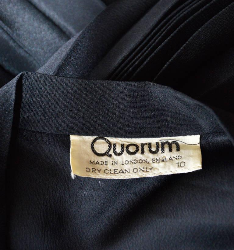 Vintage OSSIE CLARK for QUORUM Black Wrap Dress 5