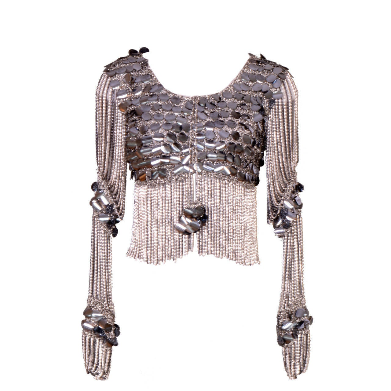Vintage 70 s LORIS AZZARO Sexy Chain and Paillette Top at 1stdibs 6f10022cd