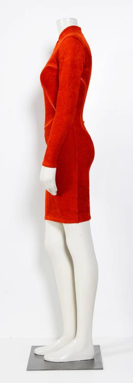 Red Vintage 90's Iconic ALAIA stretch dress For Sale