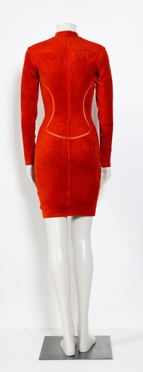 Vintage 90's Iconic ALAIA stretch dress In Excellent Condition For Sale In Antwerp, BE