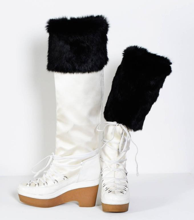 GIVENCHY / Alexander McQueen White & Black Snow-Boots 3