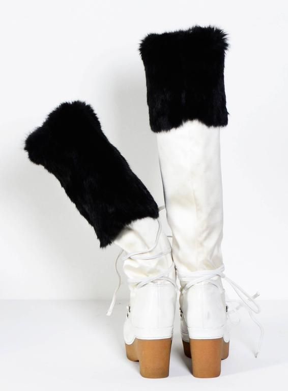 GIVENCHY / Alexander McQueen White & Black Snow-Boots 5