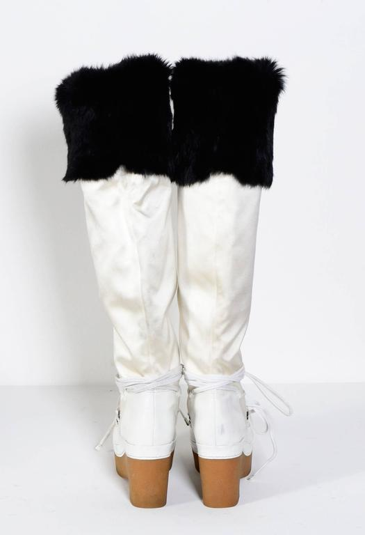 GIVENCHY / Alexander McQueen White & Black Snow-Boots 6