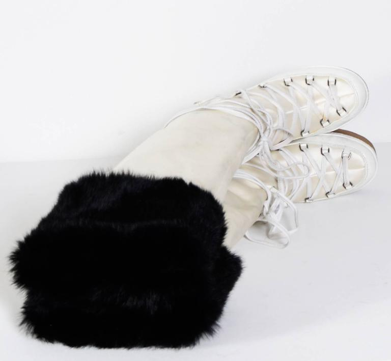 GIVENCHY / Alexander McQueen White & Black Snow-Boots 8