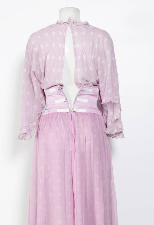 Gray 70's Silk Carisma by VALENTINO Boho Dress For Sale