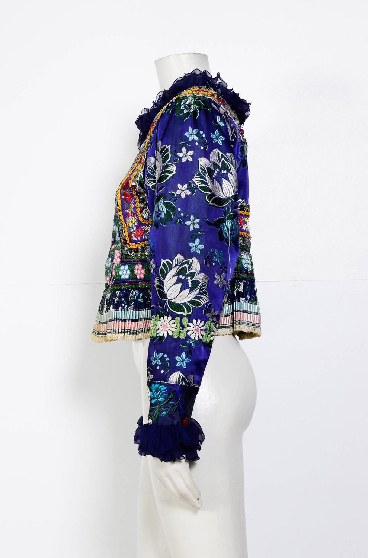 Ethnic boho vintage s embroidered jacket top at stdibs