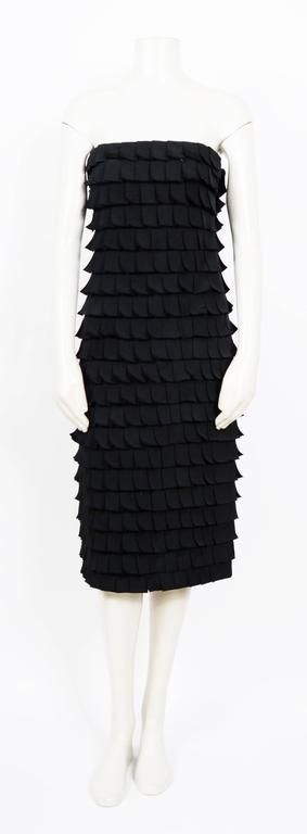 Iconic TOM FORD for Gucci Fall 2001 Black Silk Bustier Post-It Dress 3