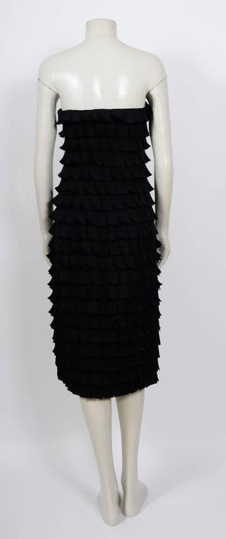 Iconic TOM FORD for Gucci Fall 2001 Black Silk Bustier Post-It Dress 6