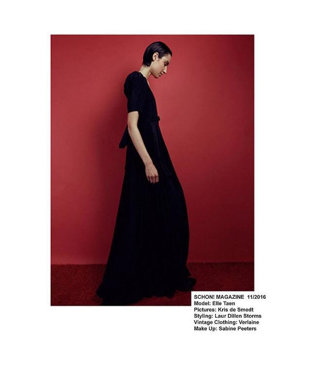 Vintage OSSIE CLARK for QUORUM Black Wrap Dress 6