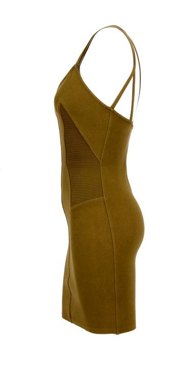 Timeless!!! Vintage Azzedine Alaia Iconic spring summer 1990 dress. Measurements taken flat without stretching the fabric: Ua to Ua 14inch/36cm - Waist 12inch/31cm - Hip 15inch/38cm - Total Length with straps 32inch/82cm