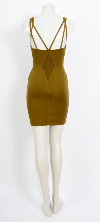 Brown Alaia spring summer collection dress,  1990  For Sale