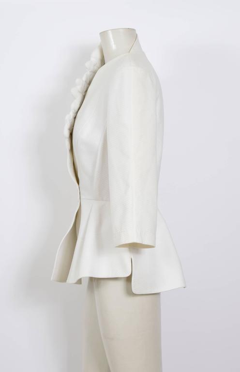 THIERRY MUGLER 1980's White Cotton Jacket 2