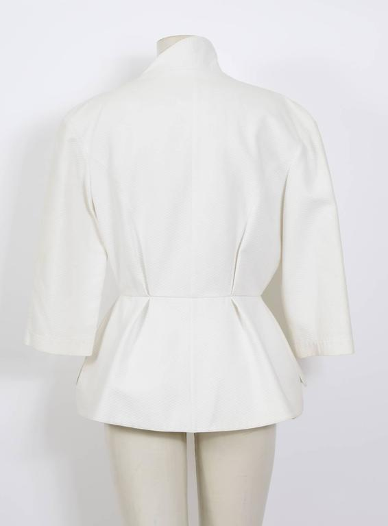 THIERRY MUGLER 1980's White Cotton Jacket 3