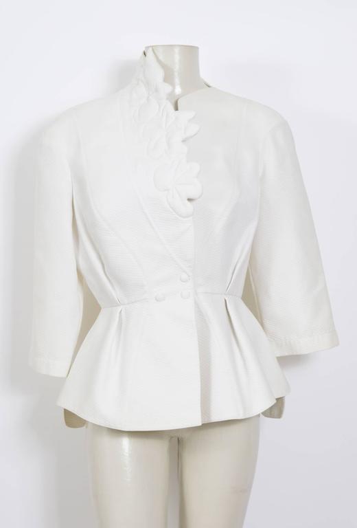 THIERRY MUGLER 1980's White Cotton Jacket 4