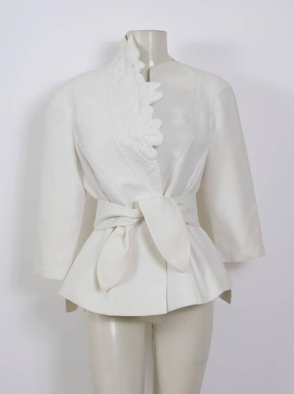 THIERRY MUGLER 1980's White Cotton Jacket 5