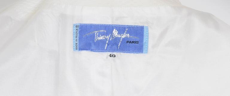 THIERRY MUGLER 1980's White Cotton Jacket 6