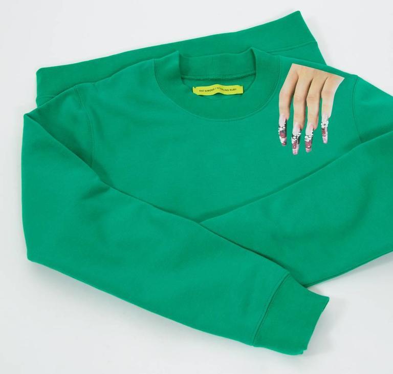 Raf Simons / Sterling Ruby 2014 Nails On Shoulder Print Sweatshirt 5