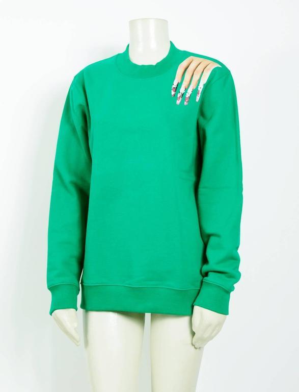 Raf Simons / Sterling Ruby 2014 Nails On Shoulder Print Sweatshirt 2