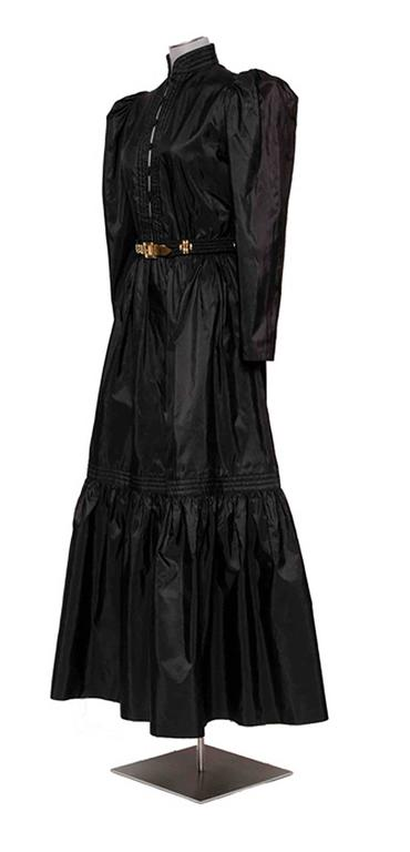 Vintage 70's silk taffeta boho dress by Guy laroche French size 42