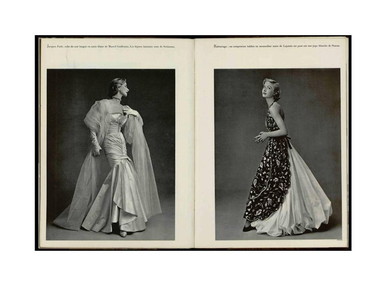 Cristobal Balenciaga numbered documented museum-worthy dress beaded by Rebe 1953 For Sale 1
