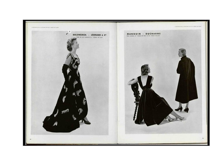 Cristobal Balenciaga numbered documented museum-worthy dress beaded by Rebe 1953 For Sale 2