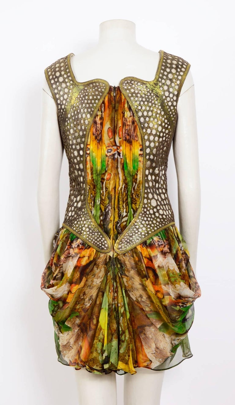 Alexander McQueen Plato's Atlantis Silk Dress with Leather Harness 6