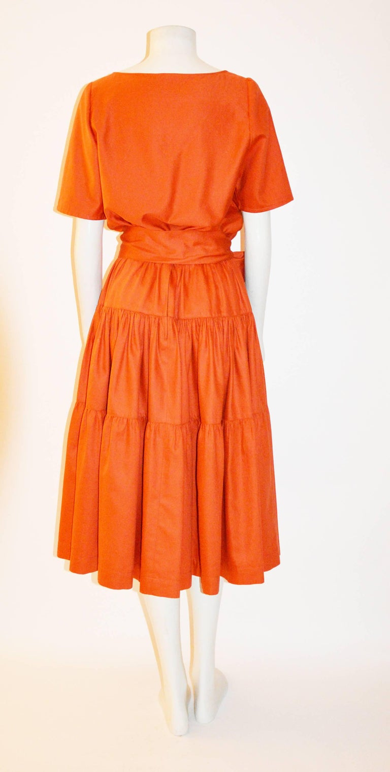 Women's Yves Saint Laurent Vintage 1970s Peasant Skirt Top and Belt For Sale