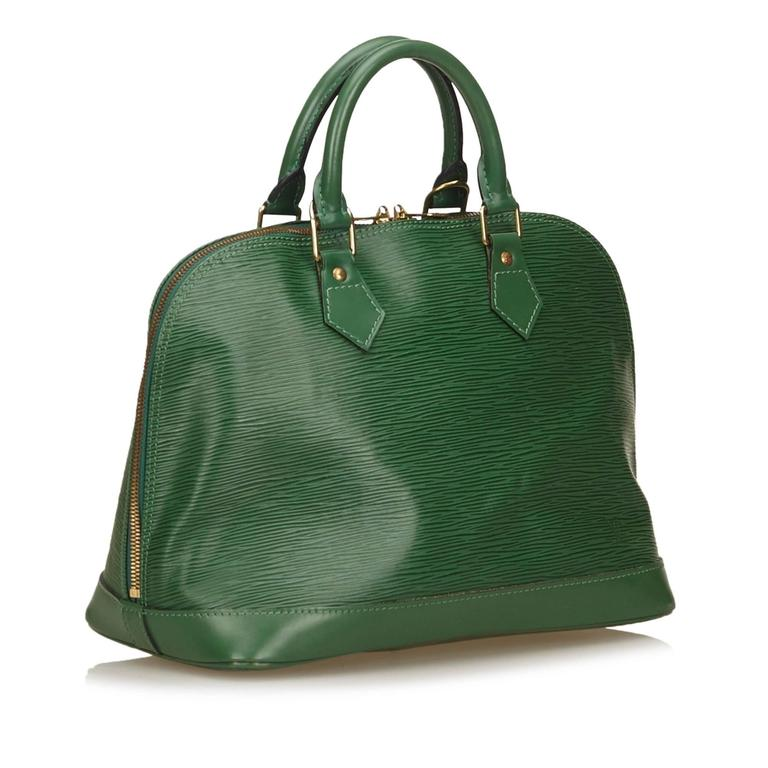 Louis Vuitton Green Epi Alma PM Hand Bag 3