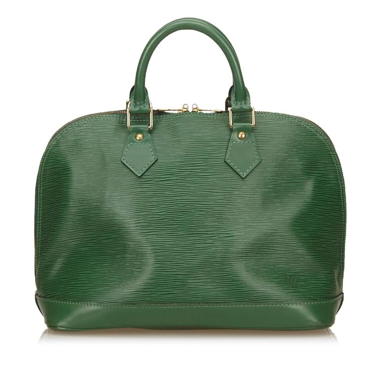 Louis Vuitton Green Epi Alma PM Hand Bag 6