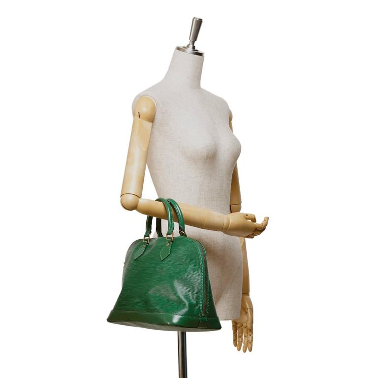 Louis Vuitton Green Epi Alma PM Hand Bag 8