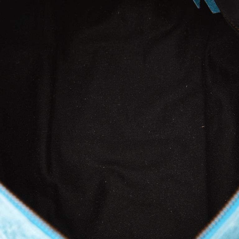 Blue Leather Motocross Twiggy Hand Bag 3